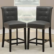 Leather Bar Stools With Back Furniture Leather Frontgate Bar Stools With Back And Nailhead For