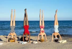girls headstands beach apartment ideas apartments
