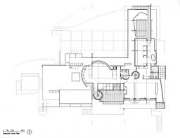 architectural floor plan drawings friesen house u2013 richard meier u0026 partners architects