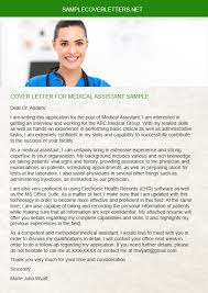 cover letter for medical assistant sample sample cover letters