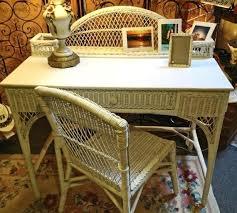 Rattan Desk Chair Vanities Rattan Vanity Chair White Wicker Desk And Chair Vanity
