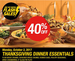 thanksgiving dinner deals bulk barn canada one day flash sale coupon save 40 off