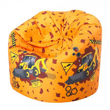 kids classic bean bag diggers yellow yellow kids bean bag