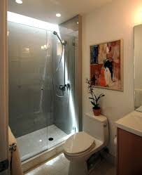 bathroom doorless shower ideas white stained wooden framed wall