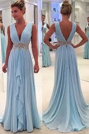 light blue formal dresses sales light blue prom dresses a line deep v neck prom dresses