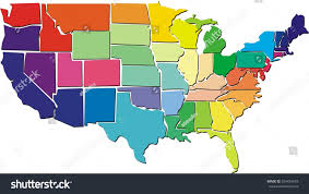 Us Maps With States Colorful Usa Map States Stock Illustration 554434678 Shutterstock