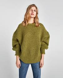 sweater with sweater with puff sleeves sweaters knitwear zara united
