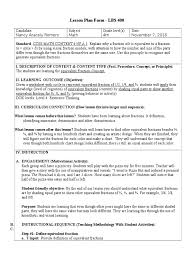 lbs 400 lesson plan form fraction mathematics lesson plan