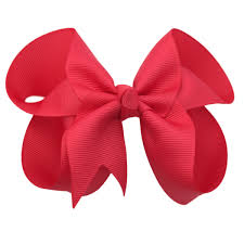 hair bow 4 inch solid color boutique hair bows the solid bow