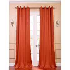 exclusive fabrics u0026 furnishings semi opaque blaze orange grommet