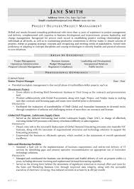 Senior Project Manager Resume Senior Project Manager Resume Sample Letter Of Recommendation
