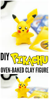 diy pikachu clay figure totally the bomb com