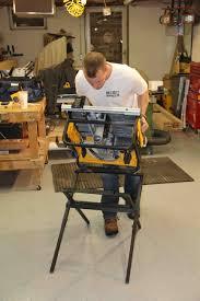 Job Site Table Saw Bosch Vs Dewalt Portable Jobsite Table Saw Stand Comparison A