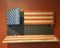 american flag gun cabinet republic of texas flag gun concealment box