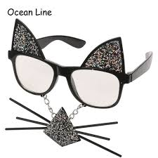 Photo Booth Equipment Online Shop Funny Cat Costume Mask Novelty Glasses Halloween Party