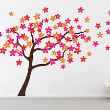 flower tree wall stickers by the binary box notonthehighstreet com flower tree wall stickers