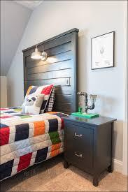 Headboard Nightstand Attached Bedroom Marvelous Floating Headboard With Attached Nightstands
