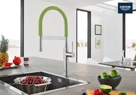 the new grohe essence semi pro kitchen faucet has modern design