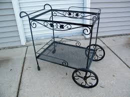 Woodard Wrought Iron Patio Furniture by Woodard Wrought Iron Tea Cocktail Cart Tea Carts Pinterest
