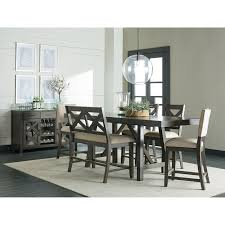 standard furniture omaha grey 6 piece counter height trestle