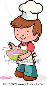 clipart cuisine clipart petit garçon chef cuistot désordre cuisine k21919653