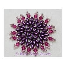 snowflake 13 beaded ornament pattern west jewels