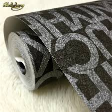 beibehang 3d mural roll flock words textured letters wallpaper