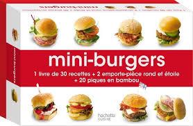 coffret livre de cuisine livre coffret mini burgers feller hachette pratique