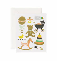 baby card classic baby greeting card by rifle paper co made in usa