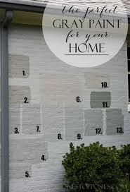 exterior gray paint colors
