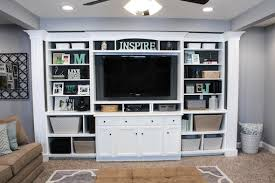 Inbuilt Bookshelf The Basement Built In Entertainment Center U0026 Bookshelves