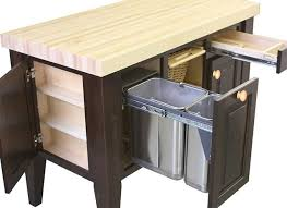 Modern Kitchen Island Cart A Kitchen Cart With Trash Bin Will Help You Keeping Your House