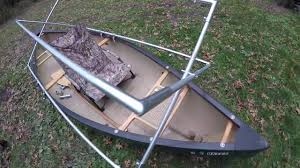 How To Build Hunting Blind How To Build A Scissors Style Pop Up Duck Blind On A Canoe Youtube