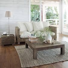 salon de veranda en osier canapé key west maisons du monde décoration pinterest