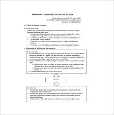 elementary lesson plan template u2013 11 free sample example format