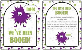 Printable Halloween Game by It U0027s Written On The Wall 16 Versions You U0027ve Been Booed Fun