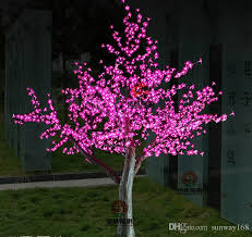2018 2m 6 5ft height outdoor artificial tree led cherry