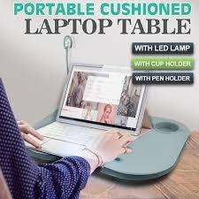 Laptop Desk With Led Light New Portable Cushioned Laptop Desk Table With Led L Light