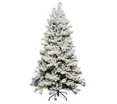 santa s best 7 5 flocked sherwood spruce tree w easy