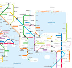 Metro Chicago Map by Subway Map Reimagines The Roman Road Network Daily Mail Online