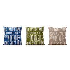 custom family pillow personalized throw cushion decor