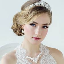 bridal tiara pearl grace tiara style for bridal weddceremony