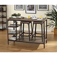 amazon counter height table amazon com 26 inch industrial metal counter height bar stools