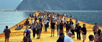 Floating Piers by File Christo Floating Piers 6595 Jpg Wikimedia Commons