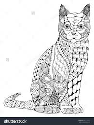 tabby cat coloring pages zentangle cat coloring page colouring cats dogs