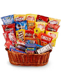 snack basket chips candy more gift basket at from you flowers