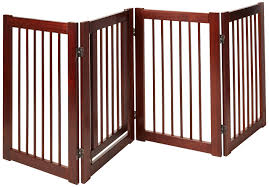 amazon com wooden pet gate indoor folding dog accessory and