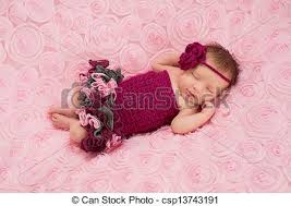 baby girl crochet newborn baby girl in crochet romper a sleeping newborn baby