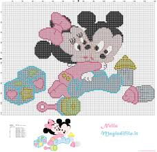 baby mickey and minnie mouse large baby mickey and minnie mouse cross stitch pattern
