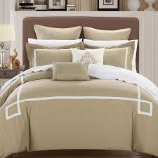 Beige Comforter Chic Home 8 Piece Ruth Ruffled Comforter Set Queen Beige